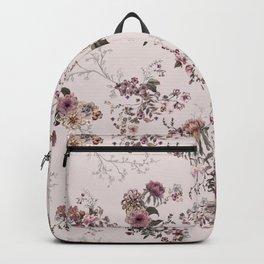Japanese Boho Floral- Oat Natural  Backpack