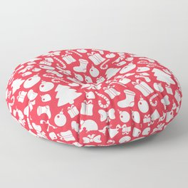 simple seamless christmas pattern Floor Pillow