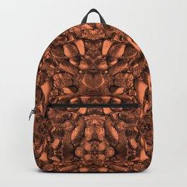 Brown Orange Copper Bronze Texture Motif Backpack