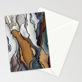 Abstract: peeling bark 2 Stationery Cards