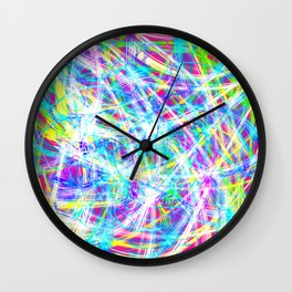 Multicolor Colorful lines Abstract Art Wall Clock