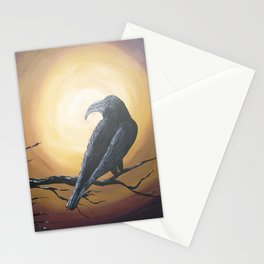 Midnight Sun Raven Stationery Cards
