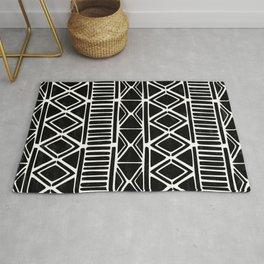 Geometric african mudcloth Rug