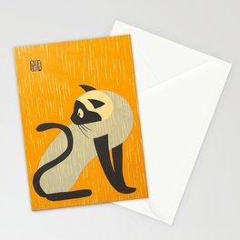 Asai Kiyoshi Japanese Woodblock Siamese Cat Midcounty Modern Art Stationery Cards