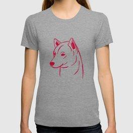 Shiba Inu (White and Red) T-shirt