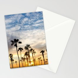 Palm Tree Love (blue and orange) Stationery Cards