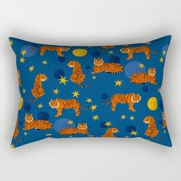 Cosmic Tigers Rectangular Pillow