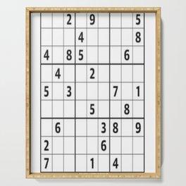 Sudoku Series: Hard Level - Mono Serving Tray