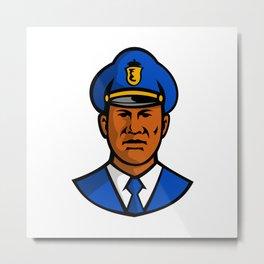 African American Policeman Mascot Metal Print
