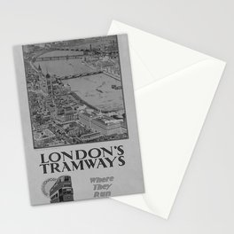 Affiche classic London Tramways poster Stationery Cards