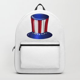 Uncle Sam Flag Hat Backpack