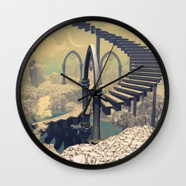 The treppe in the sky Wall Clock