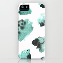 watercolor polka dots seamless pattern iPhone Case