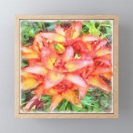 Helen's Lilies Watercolor Framed Mini Art Print