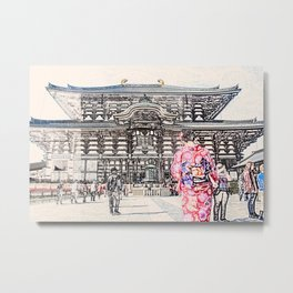 Toda-ji Temple Nara Japan Metal Print