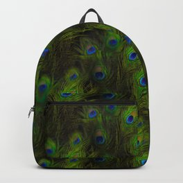 Peacock Feather Plummage Backpack