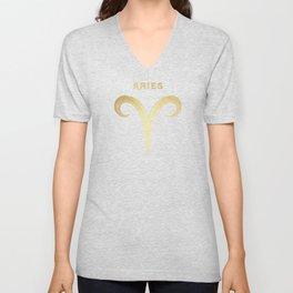 Aries Zodiac Sign Unisex V-Neck