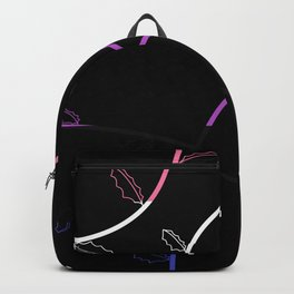 Jagged leaves, genderfluid pride flag Backpack