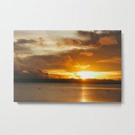Golden rising sun Metal Print