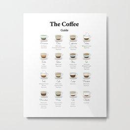 The Coffee Essential Guide Metal Print