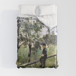 Jozef Israels - Peasant boy on a barrier - Digital Remastered Edition Comforters