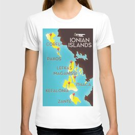ionian Islands map T-shirt