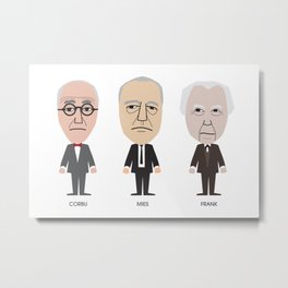 The Godfathers of Modern Architecture Metal Print