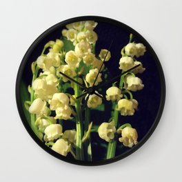 lily of the valley 4 Wall Clock