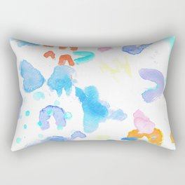 Watercolor Abstract Splash Rectangular Pillow
