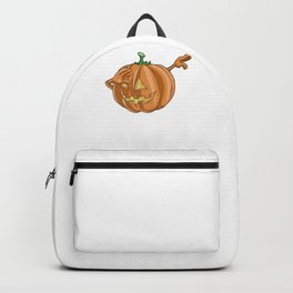 Pumpkin, It's Show Time Funny Halloween Horror Scary Backpack