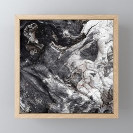Marbled Wood - Photography by Fluid Nature Framed Mini Art Print
