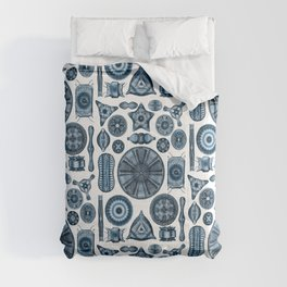Ernst Haeckel Diatomea Diatoms in Navy Blue Comforters