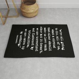 Charles Bukowski Quote Circus Black Rug