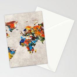 World Map 43 Stationery Cards