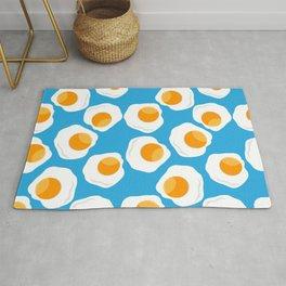 eggs pattern in blue Rug