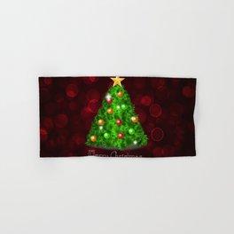 Holiday Christmas Candle Window Christmas Ornament Hand & Bath Towel