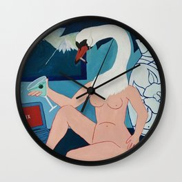 Leda Relaxes after a Hectic Week  Wall Clock
