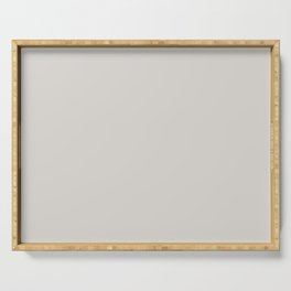 From The Crayon Box – Timberwolf Gray - Light Gray Solid Color Serving Tray