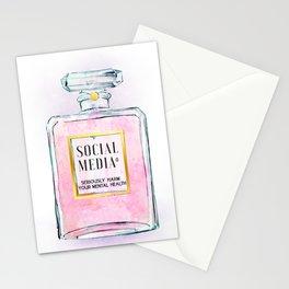Eau de Social Media Seriously Harm Your Mental Health Stationery Cards