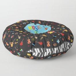 Music is my life Floor Pillow
