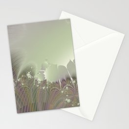Awakening into a beautiful morning - A fractal fantasy Stationery Cards