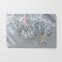 Jackson Hole Mountain Resort Trail Map Metal Print