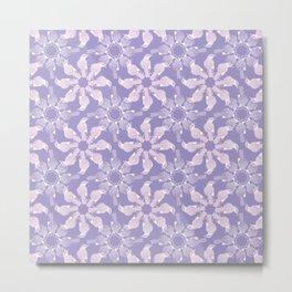 Purple Bird Medallion Pattern Metal Print