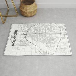 Minimal City Maps - Map Of Thornton, Colorado, United States Rug
