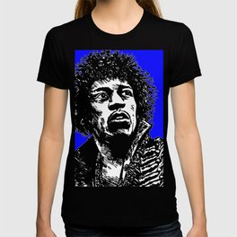 Jimi Hendrix Pop-Art (Blue) T-shirt