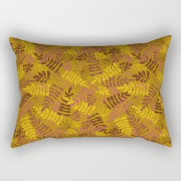 Autumn Foliage Gold Red Brown Rectangular Pillow