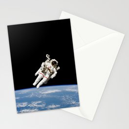 Astronaut Floating Free Stationery Cards
