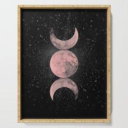 Pink Moon Symbol Serving Tray