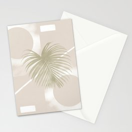 Palms and beige tones #132 Stationery Cards