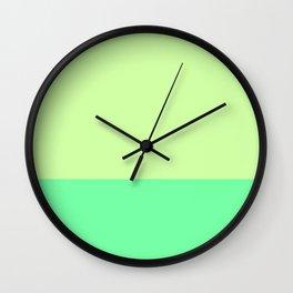 Lime Pistachio Color Block Wall Clock
